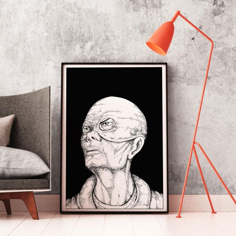 Poster AR Good Vs Evil, décoration intérieure à réalité augmentée.
