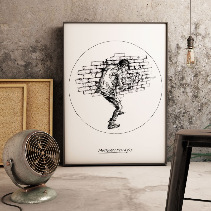 Poster A2 Modern Polaxis, décoration intérieure à réalité augmentée.