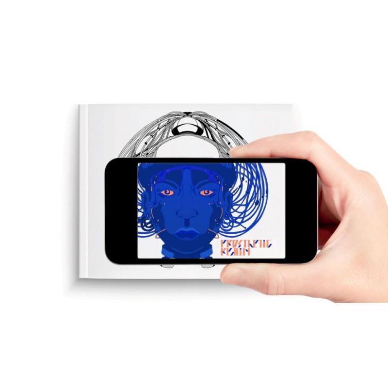 Artbook Prosthetic Reality, lecture en réalité augmentée avec l'application EyeJack
