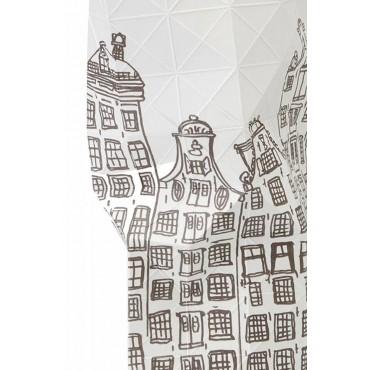 Détail du vase en papier City Canal House Amsterdam